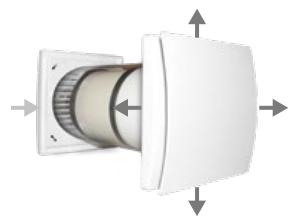 Quantum HR-150 egyhelyiséges hővisszanyerő szellőztető befújás