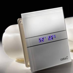 CATA E-GLAS szellőztető ventilátor páraérzékelővel