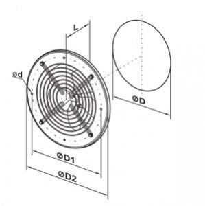 Vents ovk1 iapri axiál ventilátor mérete