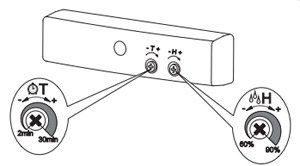 MATHL automata zsalus ventilátor időzítővel és páraérzékelővel beállítása