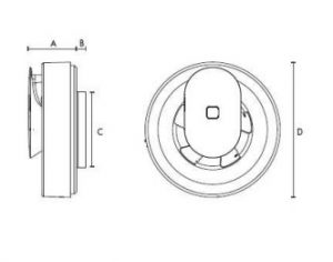 Svara 12V-os fürdőszoba ventilátor méretei